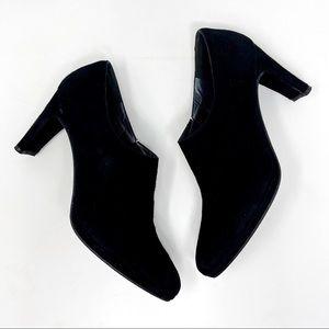 Stuart Weitzman Standap Black Suede Ankle Boots 9
